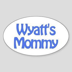 Wyatt's Mommy Oval Sticker