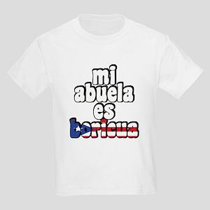 Mi Abuela Es Boricua Kids Light T-Shirt
