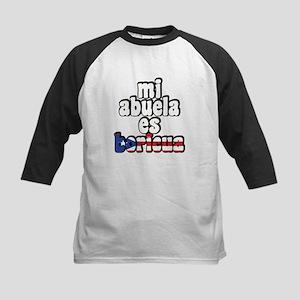 Mi Abuela Es Boricua Kids Baseball Jersey