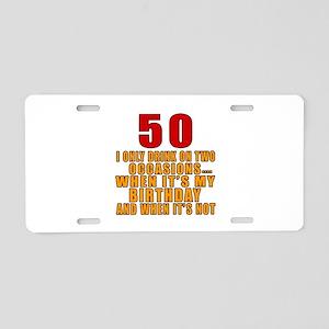 50 birthday Designs Aluminum License Plate