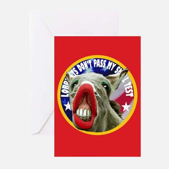 FRUITCAKE DONKEY Greeting Cards (Pk of 10)
