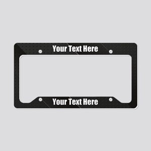 Custom Futuristic Black License Plate Holder