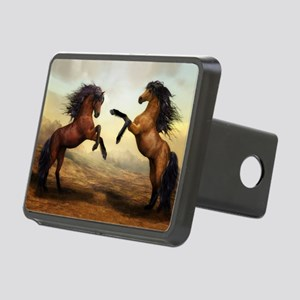 Wild Horses Rectangular Hitch Cover