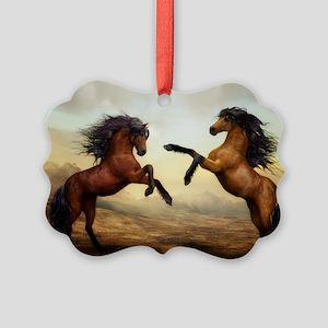 Wild Horses Picture Ornament