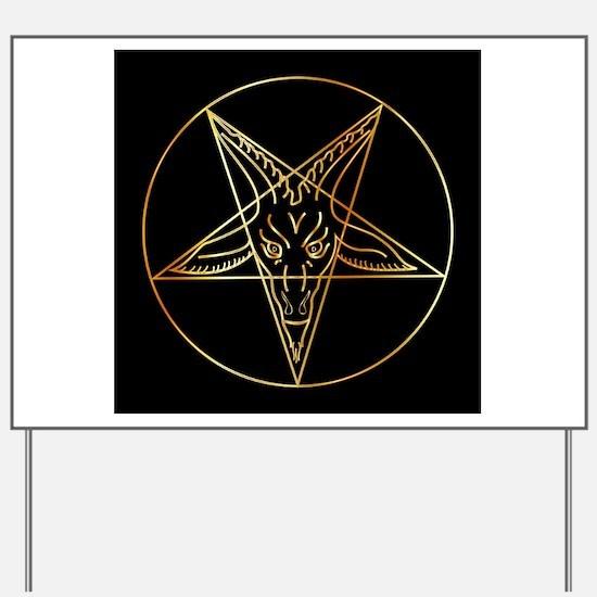 Unique Occult Yard Sign