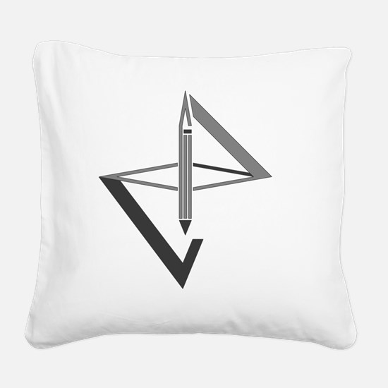 Cool Geometric Square Canvas Pillow