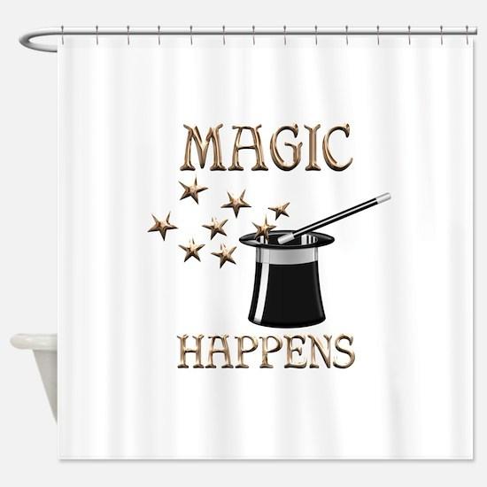 Magic Happens Shower Curtain