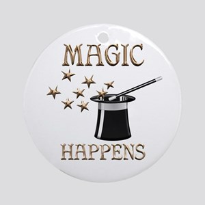 Magic Happens Round Ornament