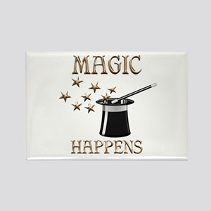 Magic Happens Rectangle Magnet