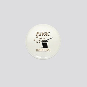 Magic Happens Mini Button