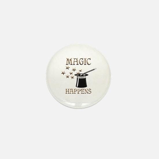 Magic Happens Mini Button