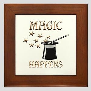 Magic Happens Framed Tile