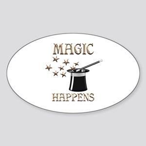 Magic Happens Sticker (Oval)