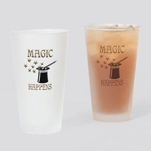 Magic Happens Drinking Glass