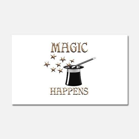 Magic Happens Car Magnet 20 x 12