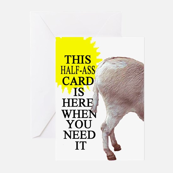 HALF-ASS CARD Greeting Cards (Pk of 10)