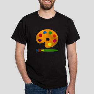 Paint Palette Dark T-Shirt