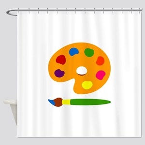 Paint Palette Shower Curtain