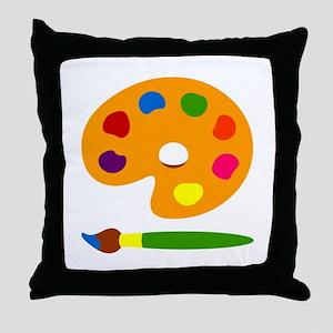 Paint Palette Throw Pillow