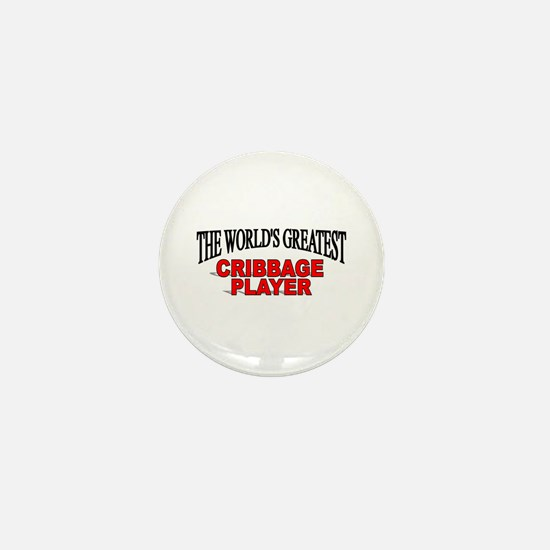 """""""The World's Greatest Cribbage Player"""" Mini Button"""