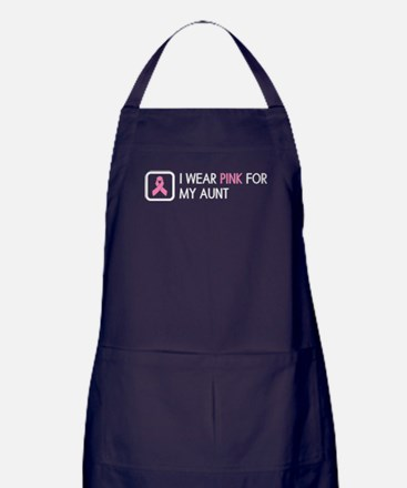 Breast Cancer: Pink For My Aunt Apron (dark)