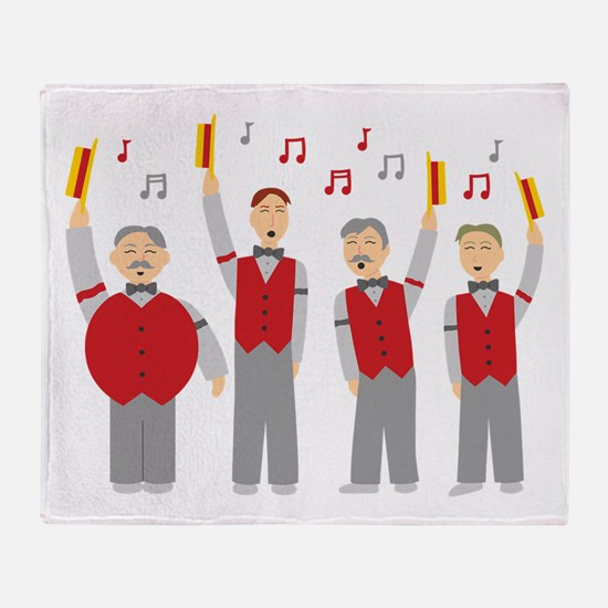 Classic Barbershop Quartet Throw Blanket