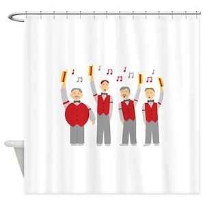 Vintage Barber Shower Curtains