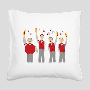Classic Barbershop Quartet Square Canvas Pillow