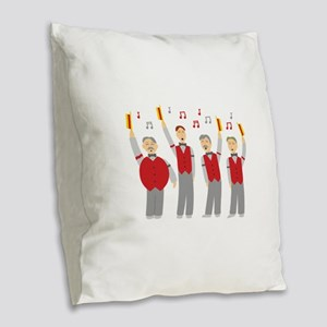 Classic Barbershop Quartet Burlap Throw Pillow