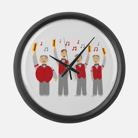Classic Barbershop Quartet Large Wall Clock