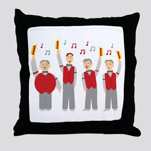 Classic Barbershop Quartet Throw Pillow