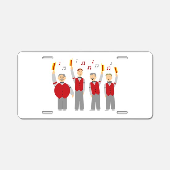 Classic Barbershop Quartet Aluminum License Plate