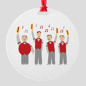 Classic Barbershop Quartet Round Ornament