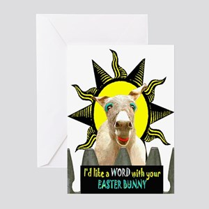 A WORD WITH THE EASTER BUNNY Greeting Cards (Packa