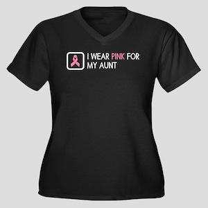 Breast Cance Women's Plus Size V-Neck Dark T-Shirt