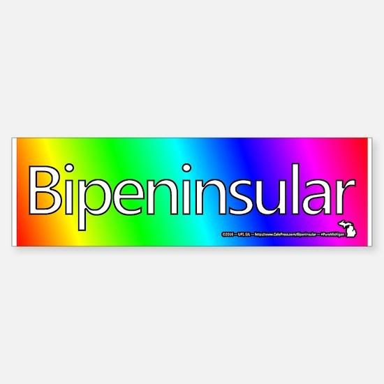 Michigan Bipeninsular Rainbow Bumper Bumper Bumper Sticker