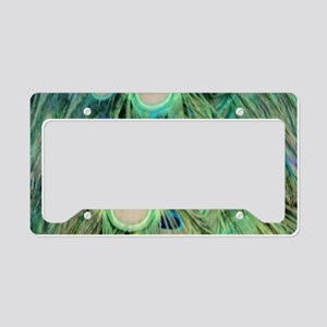 Long Tail Peacock License Plate Holder