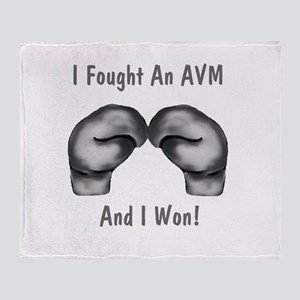 I Fought An AVM And I Won Throw Blanket