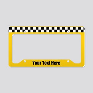 Custom Taxi License Plate Holder
