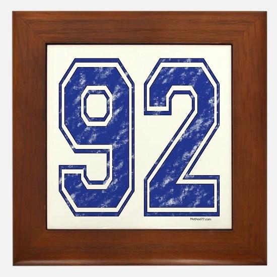 92 Jersey Year Framed Tile