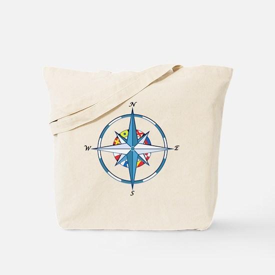 Cute Nautical sailing compass rose Tote Bag