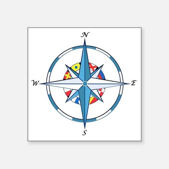 """Funny Boats Square Sticker 3"""" x 3"""""""