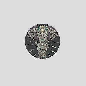 Indian Elephant Mini Button