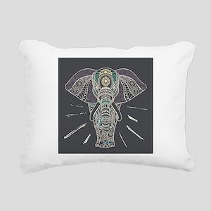 Indian Elephant Rectangular Canvas Pillow