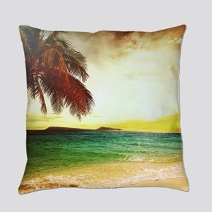Tropical Beach Everyday Pillow