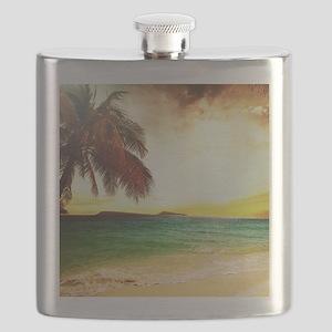 Tropical Beach Flask
