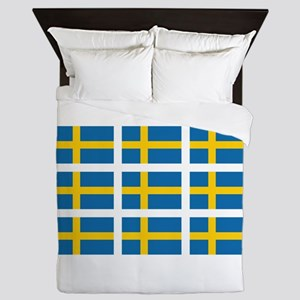Sweden Flags Queen Duvet