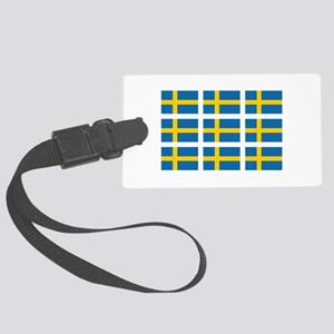 Sweden Flags Large Luggage Tag