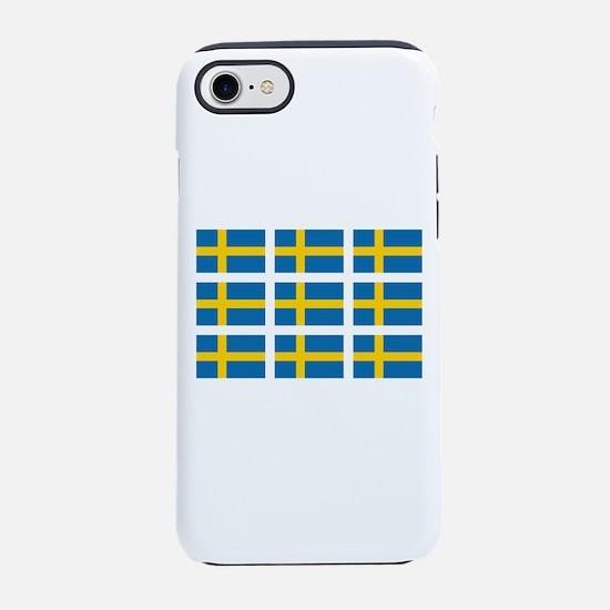 Sweden Flags iPhone 8/7 Tough Case