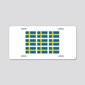Sweden Flags Aluminum License Plate